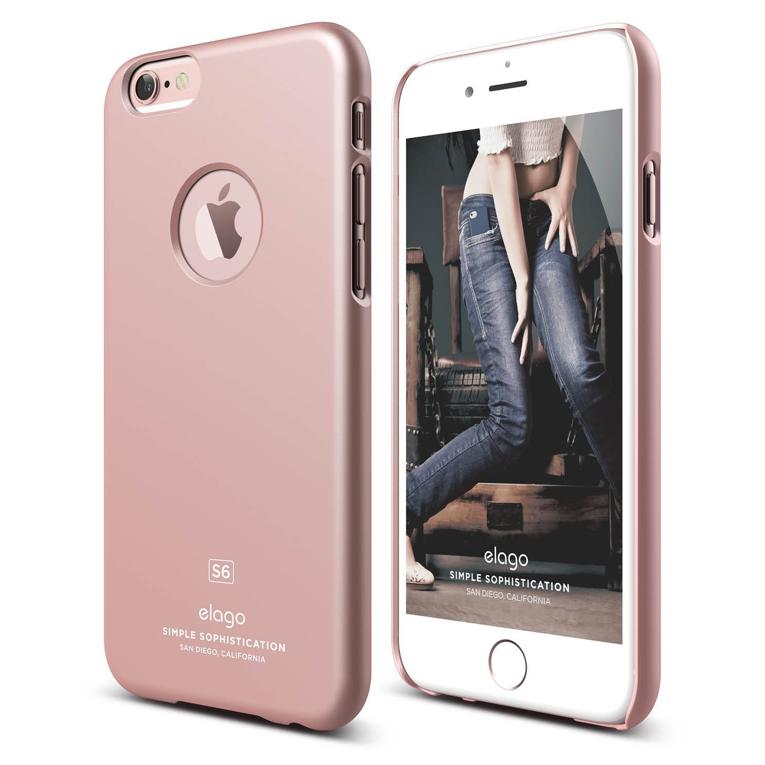 s6 slim fit case for iphone 6 6s plus rose gold elago. Black Bedroom Furniture Sets. Home Design Ideas