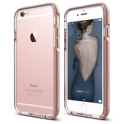S6 Aluminum Bumper for iPhone 6s - Transparent / Rose Gold