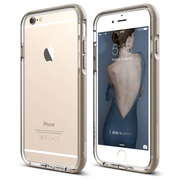 S6 Aluminum Bumper for iPhone 6s - Transparent / Champagne Gold