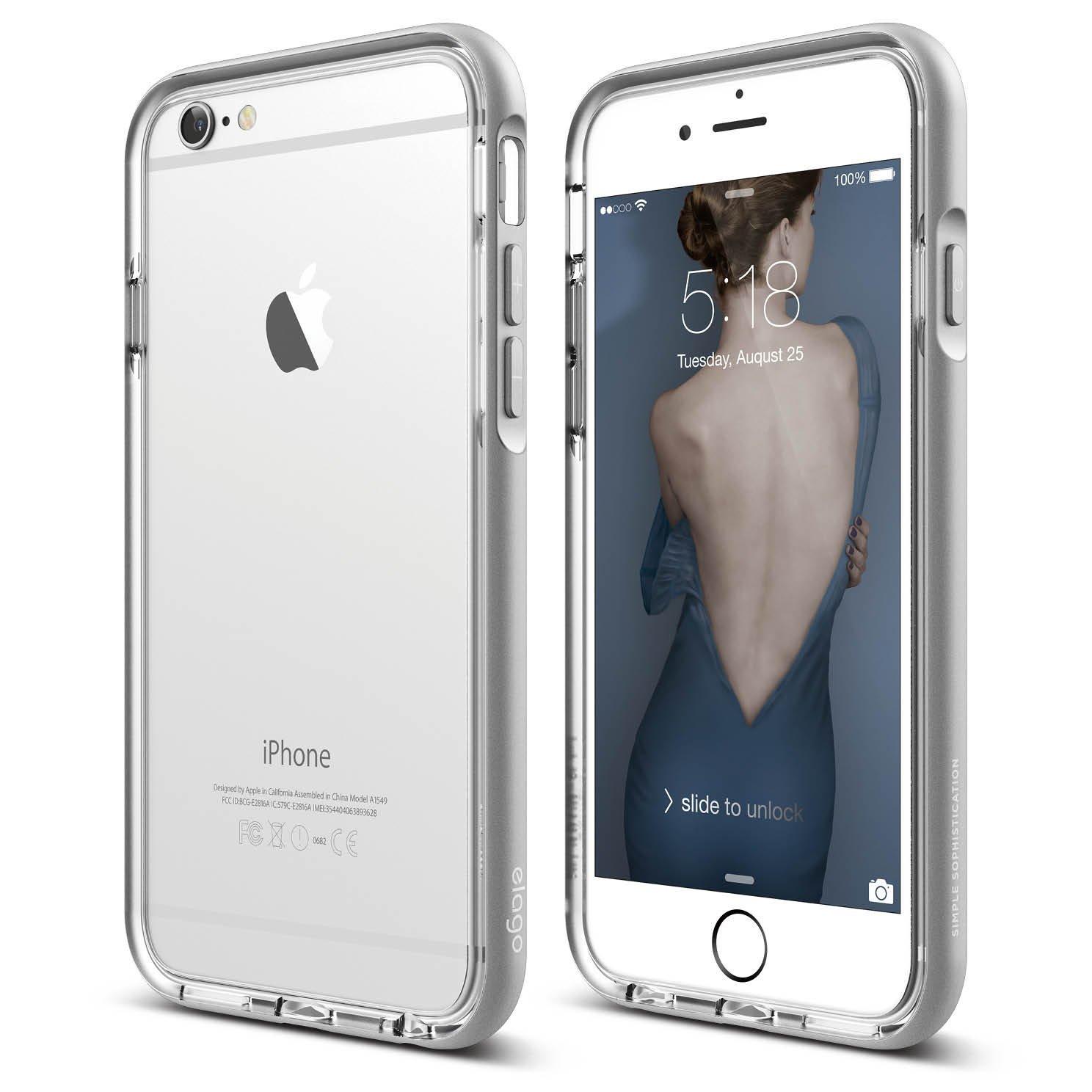 s6 aluminum bumper for iphone 6s plus transparent silver elago europe. Black Bedroom Furniture Sets. Home Design Ideas