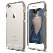 S6 Dualistic Aluminum Case for iPhone 6/6s - Transparent / Champagne Gold