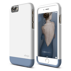 S6 Glide Cam for iPhone 6s - White / Royal Blue