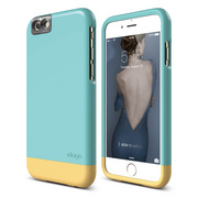 S6 Glide Cam for iPhone 6s - Coral Blue / Creamy Yellow