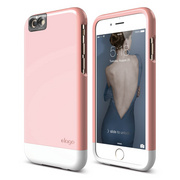 S6 Glide Cam for iPhone 6s - Lovely Pink / White