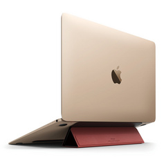 Portable Flip Stand for Macbook - Black / Red