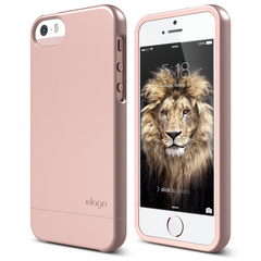 S5 Glide Case with Extra Bottom Clip for iPhone 5/5s/SE - Rose Gold
