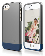 S5 Glide Case with Extra Bottom Clip for iPhone 5/5s/SE - Metallic Dark Gray