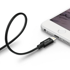 Aluminum Lightning Cable for Sync & Charge - Black