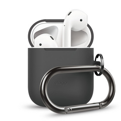 Airpods Silicone Hang Case - Dark Gray