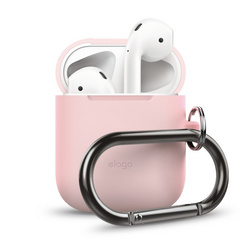 Airpods Silicone Hang Case - Pink