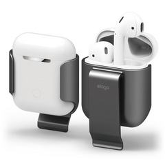 Airpods Carrying Clip - Metallic Dark Gray
