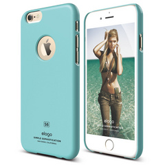 S6 Slim Fit Case for iPhone 6 ONLY - Shiny Coral Blue