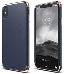 Empire for iPhone X - Rose Gold / Jean Indigo
