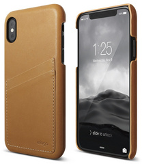 Genuine Leather for iPhone Xs - Brown