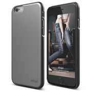 S6 Slim Fit 2 Case for iPhone 6/6s - Metallic Dark Grey