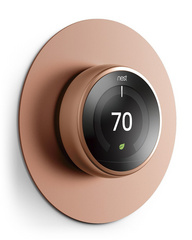 Alluminium Wall Plate Cover for Nest Learning Thermostat  - Bronze