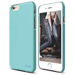 S6 Slim Fit 2 Case for iPhone 6 ONLY - Shiny Coral Blue