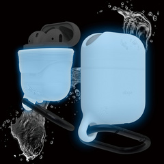 Airpods Waterproof Hang Case - Nightglow Blue