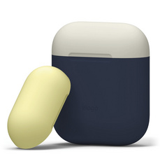Airpods Silicone Case - Jean Indigo with Classic White/Yellow top