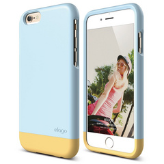 S6 Glide for iPhone 6 - Cotton Candy Blue / Creamy Yellow