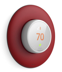 Classical Wall Plate Cover for Nest Thermostat E - Red