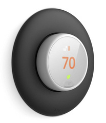 Classical Wall Plate Cover for Nest Thermostat E - Black
