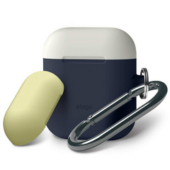 Airpods Silicone Duo Hang Case - Jean Indigo with Creamy White/Yellow Top