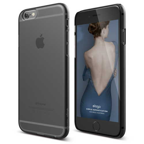 S6 Slim Fit 2 Frosted Case For Iphone 6 6s Dark Grey