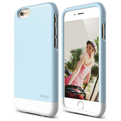 S6 Glide for iPhone 6 - Cotton Candy Blue / White