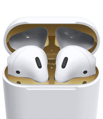 Airpods Wired Case Dust Guard - Gold with 18K Gold Plating (2 sets)