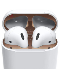 Airpods Wired Case Dust Guard - Rose Gold with 18K Gold Plating (2 sets)