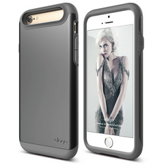 S6 Duro Case for iPhone 6/6s - Dark Gray / Metallic Dark Gray