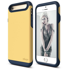 S6 Duro Case for iPhone 6/6s- Jean Indigo / Creamy Yellow