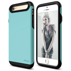 S6 Duro Case for iPhone 6/6s- Matt Black / Coral Blue