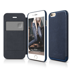S6 Leather Flip Case for iPhone 6/6s- Jean Indigo / Jean Indigo