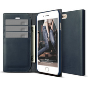 S6+ Genuine Leather Wallet Case for iPhone 6/6s Plus - Jean Indigo