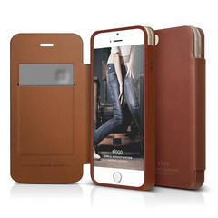 S6 Genuine Leather Flip Case for iPhone 6/6s