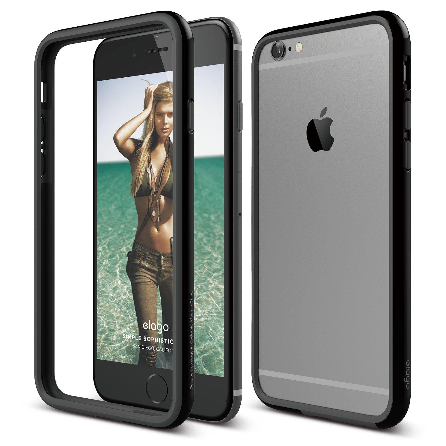 S6 Bumper Case for iPhone 6/6s Plus - Black « Back