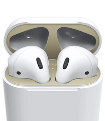 Airpods Wired Case Dust Guard - Matt Gold with 18K Gold Plating (2 sets)