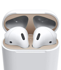 Airpods Wired Case Dust Guard - Matt Rose Gold with 18K Gold Plating (2 sets)