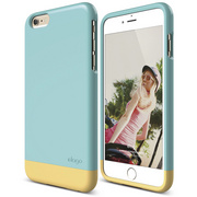 S6+ Glide for iPhone 6 Plus - Coral Blue / Creamy Yellow
