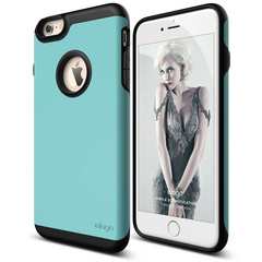 S6+ Duro Case for iPhone 6/6s Plus - Black / Coral Blue
