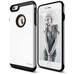 S6+ Duro Case for iPhone 6/6s Plus - Black / White