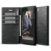 S6+ Wallet Card Case for iPhone 6/6s Plus - Black