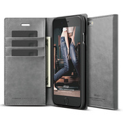S6+ Wallet Card Case for iPhone 6/6s Plus - Dark Gray