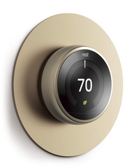 Alluminium Wall Plate Cover for Nest Learning Thermostat  - Brass