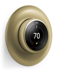 Classical Wall Plate Cover for Nest Learning Thermostat - Brass