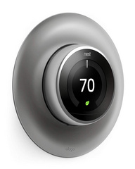 Classical Wall Plate Cover for Nest Learning Thermostat - Metallic Silver