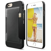 S6 Outfit Genuine Leather Pocket Case for iPhone 6/6s - Black / Black