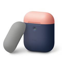 Airpods Silicone Case - Jean Indigo with Peach/Gray top